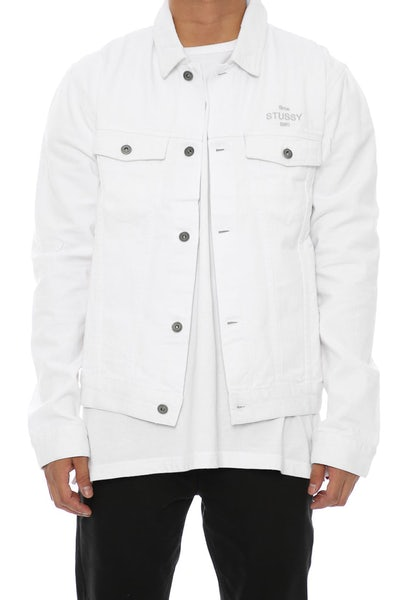 Stussy Same Game Jacket White