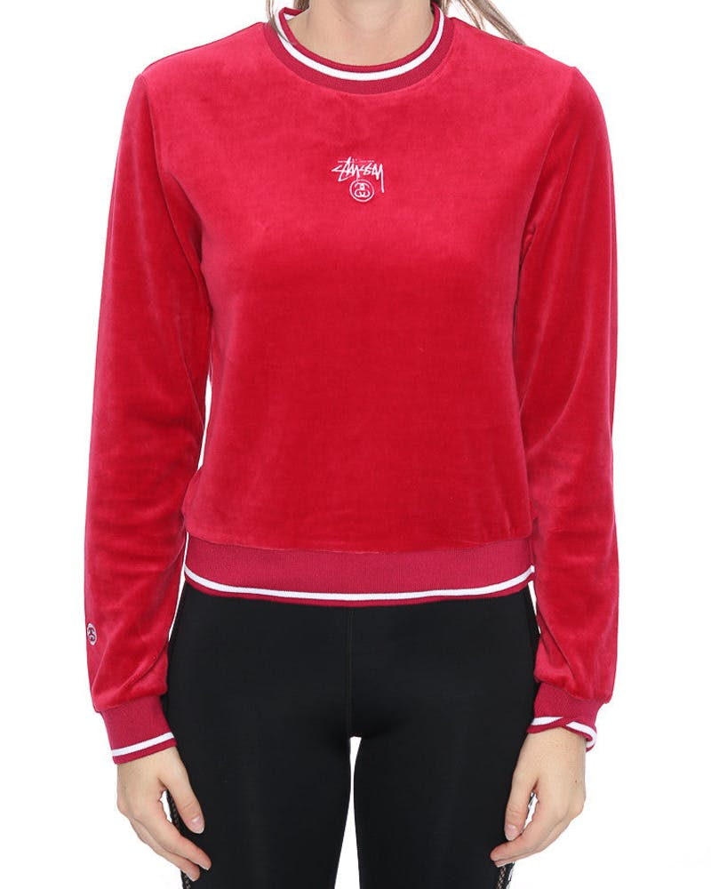STUSSY LUCY CREW RED