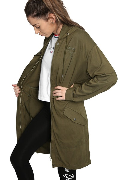 Stussy Ladies Newport Jacket Military