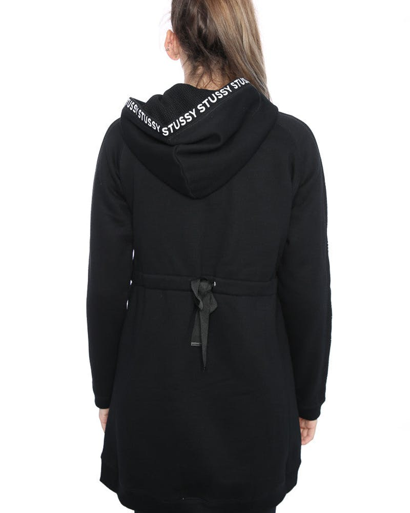 Stussy Ladies Mesh Fleece Anorak Jacket Black
