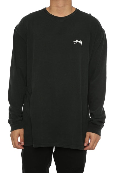 Stussy Totem City LS Tee Washed Black