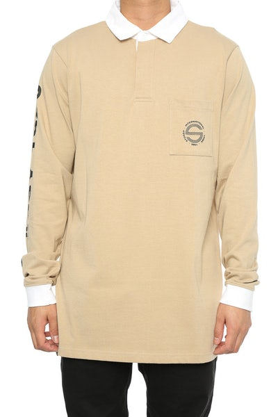 Stussy Legacy Rugby Shirt Sand