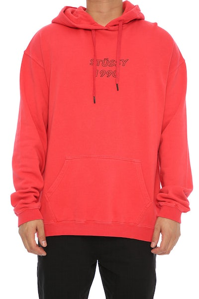 Stussy Oblique Hood Red