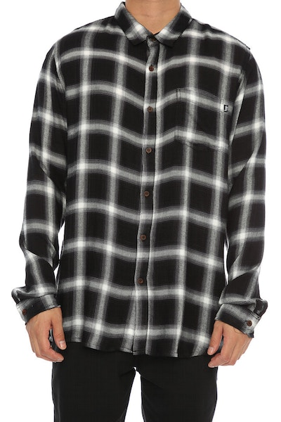 Stussy Philly Check Long Sleeve Shirt Charcoal