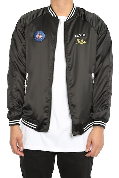 Stüssy Spring Satin Reversible Bomber Black/Royal