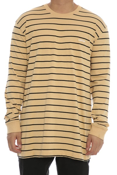 Stussy Laguna Beach LS Tee Tan/Black