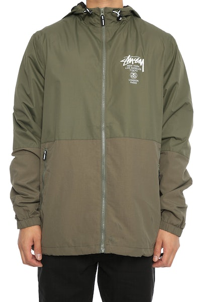 Stussy Cities Spray Jacket Olive