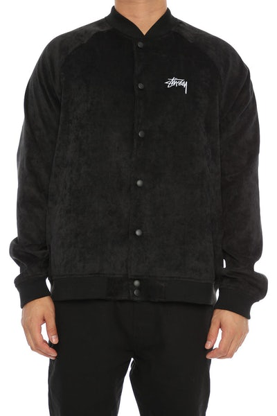Stussy Republic Velvet Bomber Jacket Black
