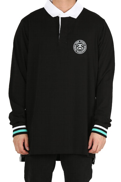 Stussy Link Rugby Long Sleeve Black