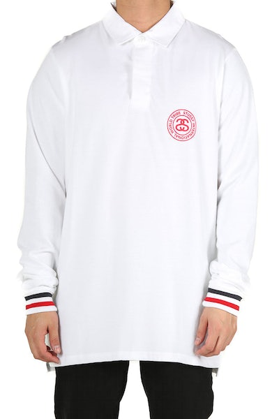 Stussy Link Rugby Long Sleeve White