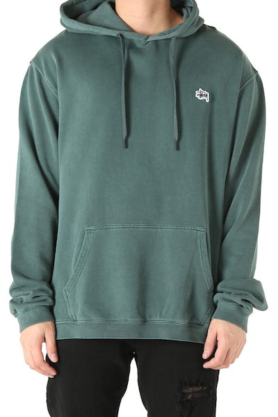Stussy Stock Basic Pigment Hood Green
