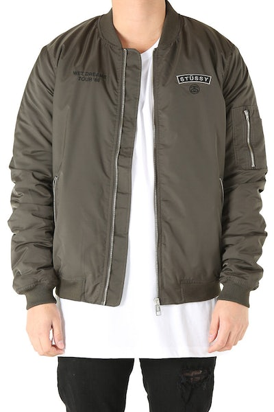 Stussy Tour Bomber Jacket Military