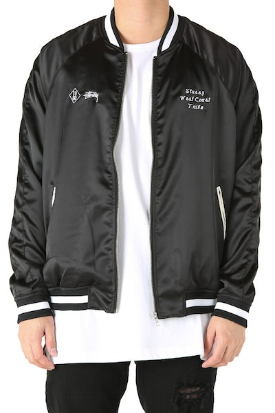Stussy West Coast Bomber Black