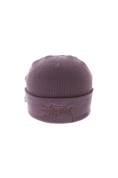 Stussy Tonal Stock Cuff Beanie Dark Purple