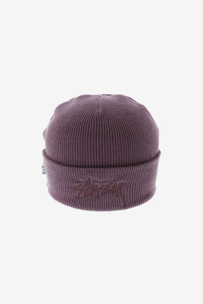 Stussy Tonal Stock Cuff Beanie Dark Purple 69e7f07be599