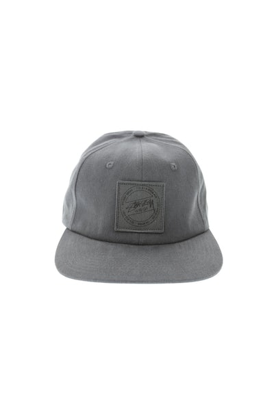 Stuss Washed Twill Strapback Black