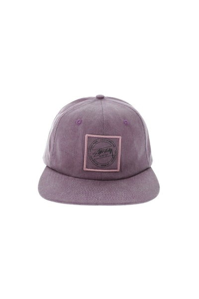 Stuss Washed Twill Strapback Burgundy