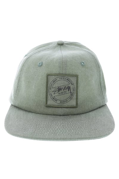 Stuss Washed Twill Strapback Green