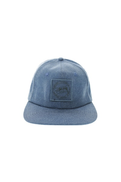 Stuss Washed Twill Strapback Navy
