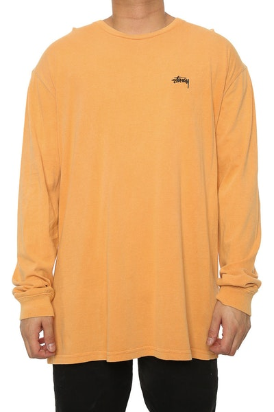 Stussy Stock Pigment LS Tee Orange