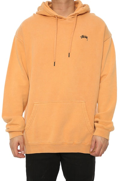 Stussy Stock Basic Pigment Hood Orange