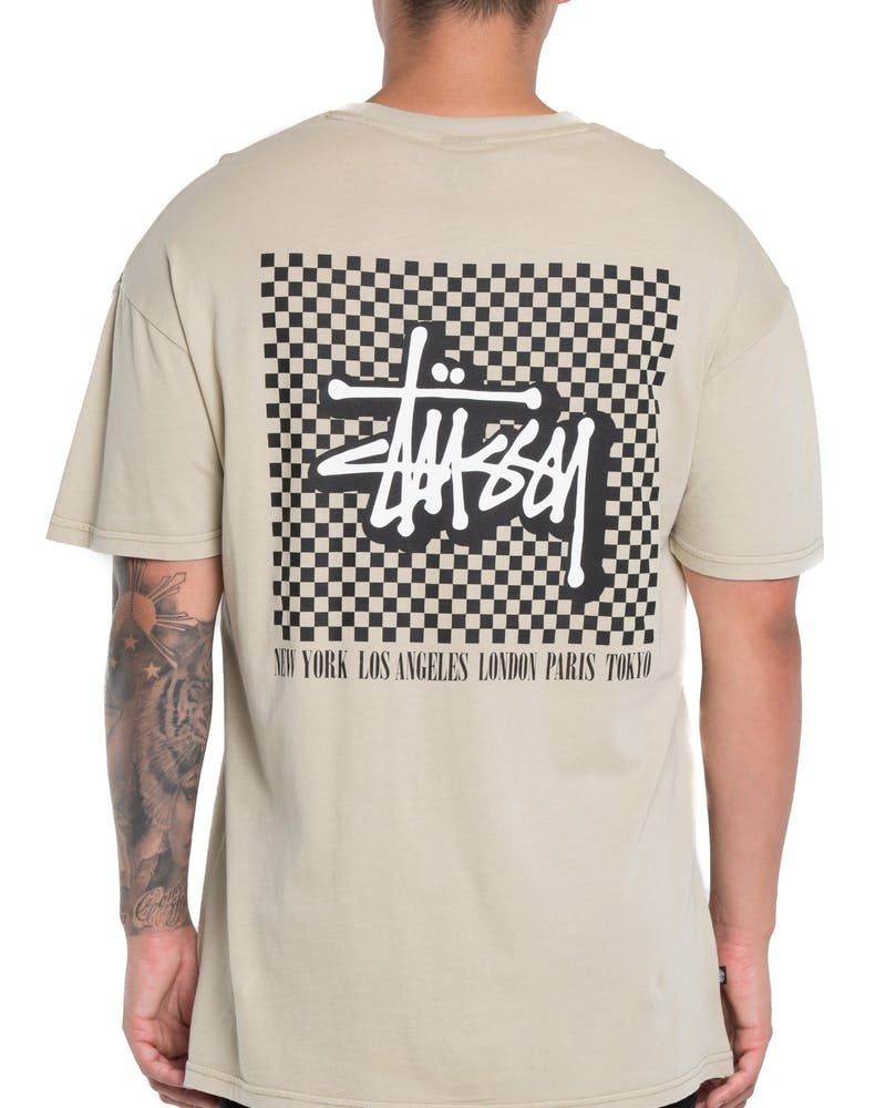 Stussy Cheque SS Tee Sand