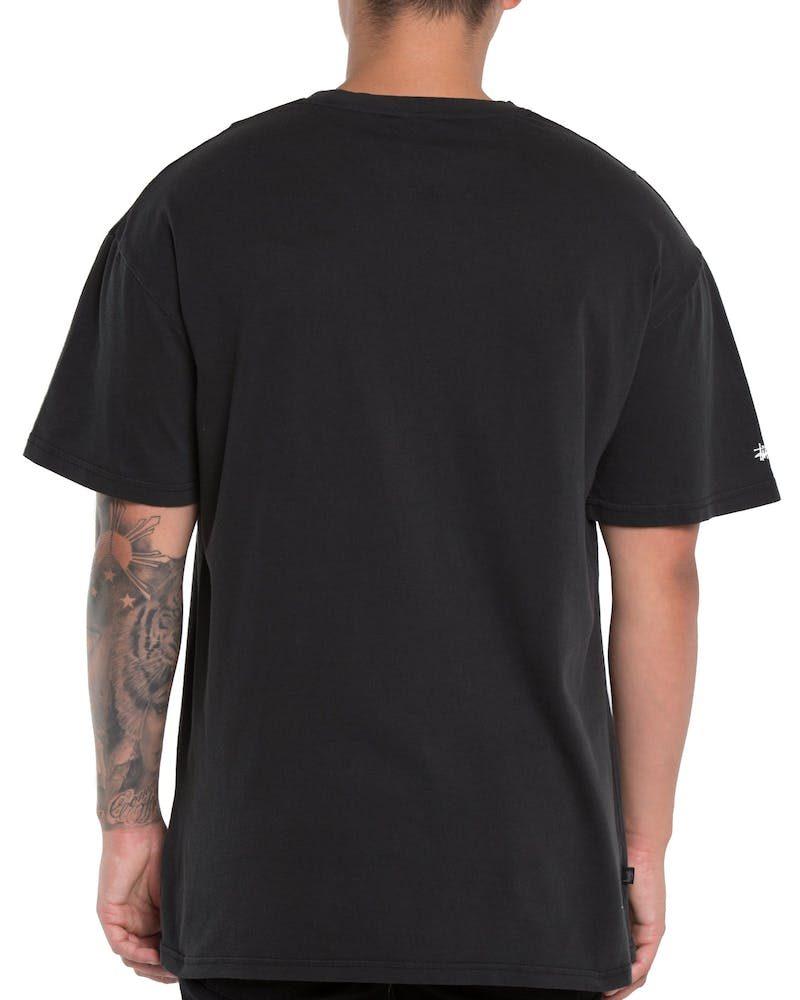 Stussy Dropped U SS Tee Washed Black