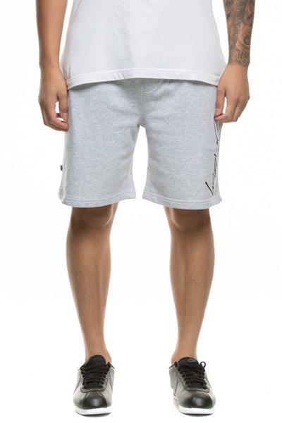 Stussy Worldwide Fleece Short Grey Marle