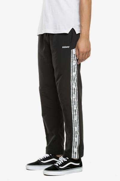 STUSSY CHOOSE LEISUREWEAR TRACKPANT BLACK