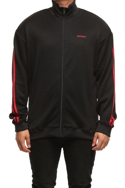 Stussy Dazed Tricot Zip Thru Black/Red