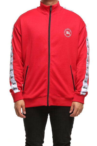 Stussy Graffiti Tape Zip Thru Red/White