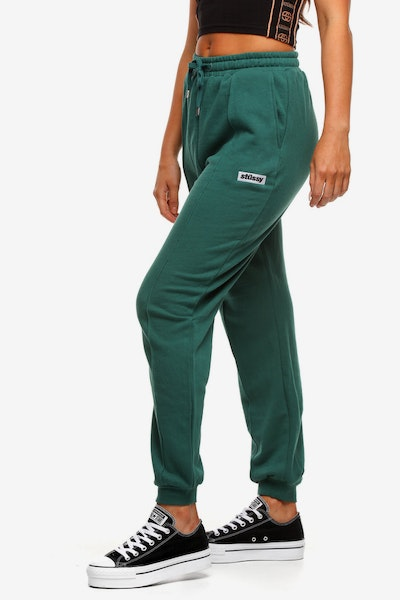 Stussy Women's Box Italic Trackpant Dark Teal