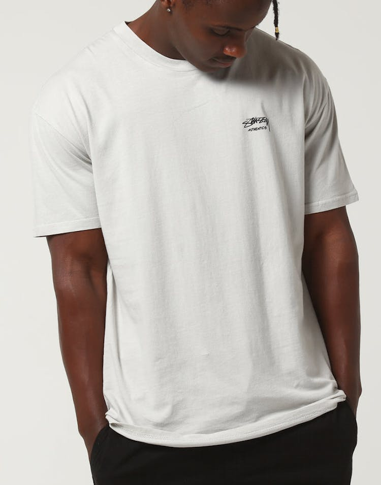 5783b37f6f8 Stussy Pigment Basic SS Tee White Sand – Culture Kings