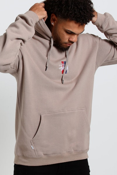 Stussy Bars Logo Hood Atmosphere Grey