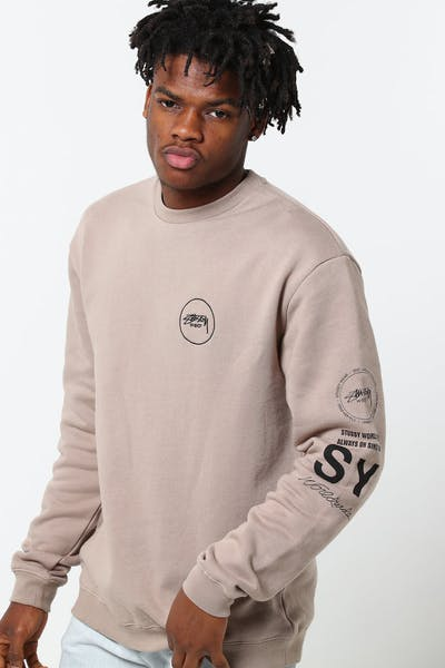 Stussy Always On Crew Atmosphere Grey