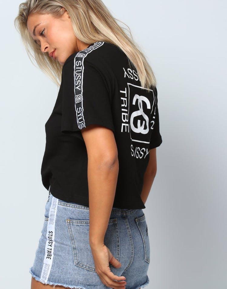 95f421b7f45fc1 Stussy Women s Arcade Crop OS Tee Black – Culture Kings