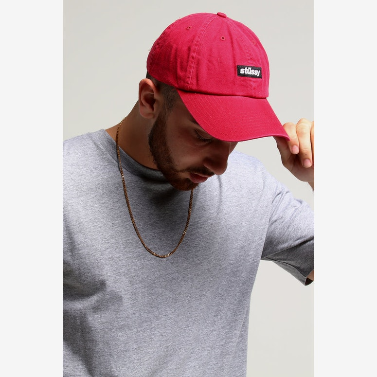 Stussy Boxed Italic Lo Pro Cap Scarlet – Culture Kings 822fc2aec76