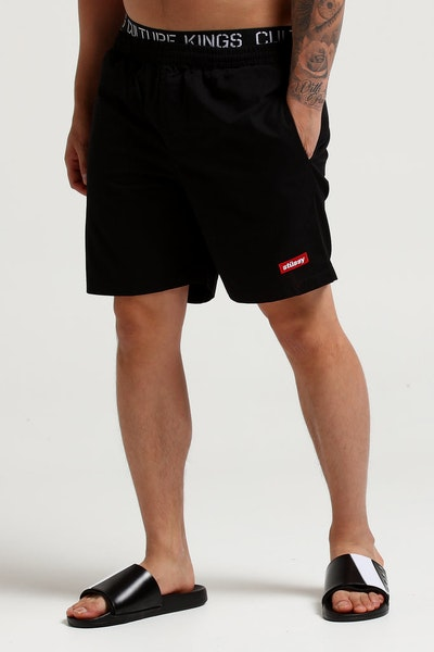 Stussy Box Italic Beachshort Black