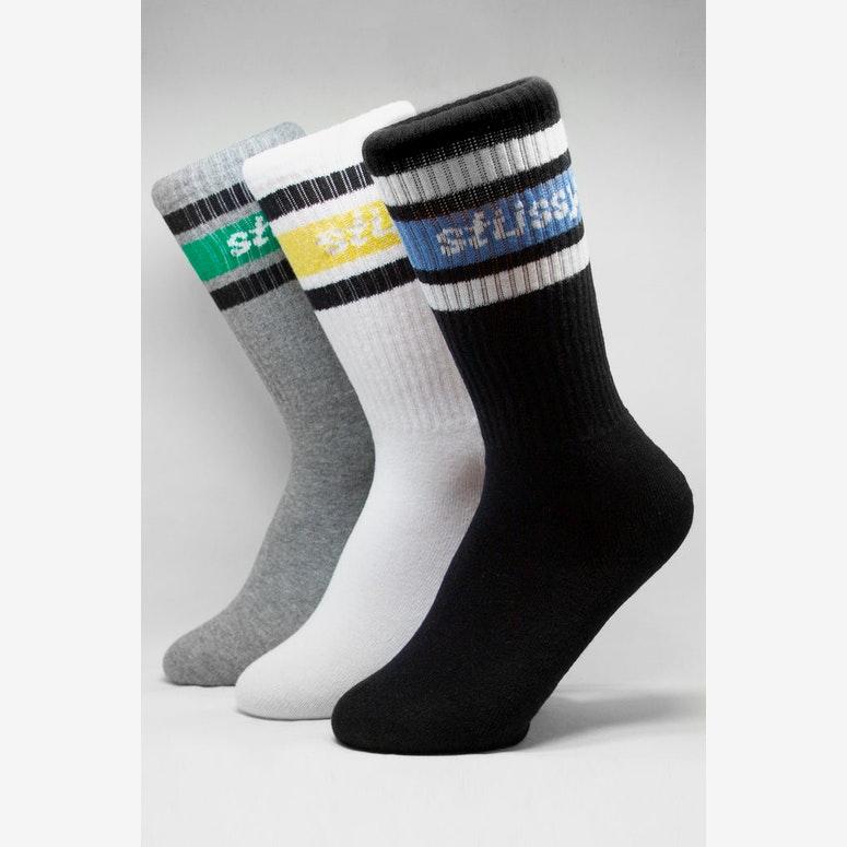 Stussy Lewis Sock 3 Pack Multi-Coloured
