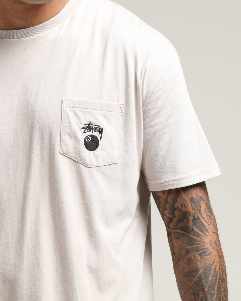 Stussy 8-Ball Pocket SS Tee Sand
