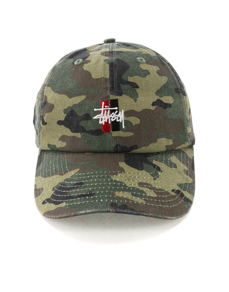 56d6ef52c54 Stussy Bars Logo Lo Pro Cap Camo – Culture Kings