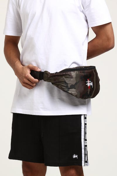 Stussy Bars Waist Bag Camo