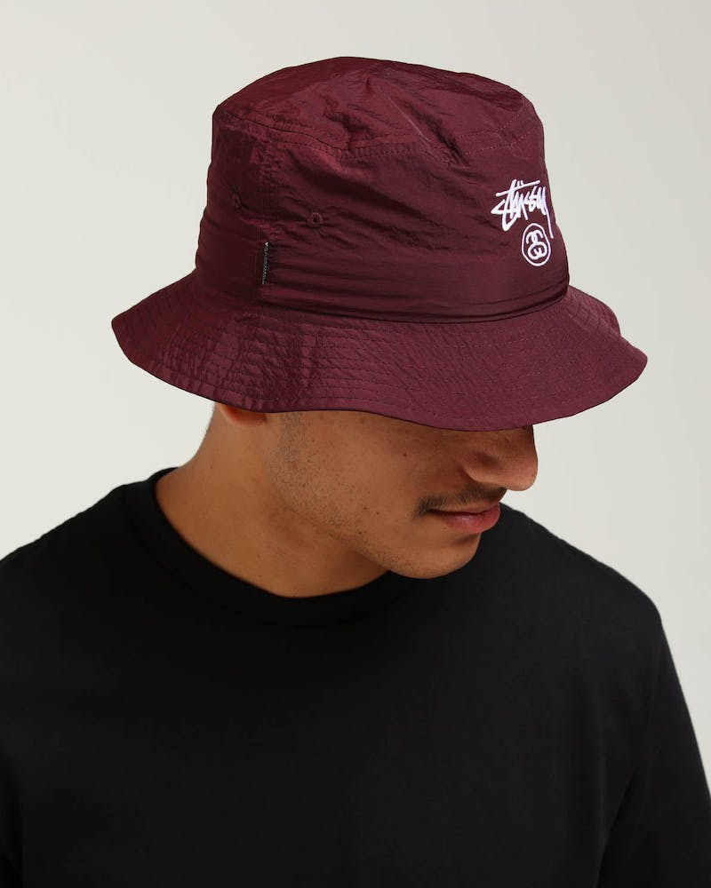 Stussy Crushable Stock Bucket Hat Brown