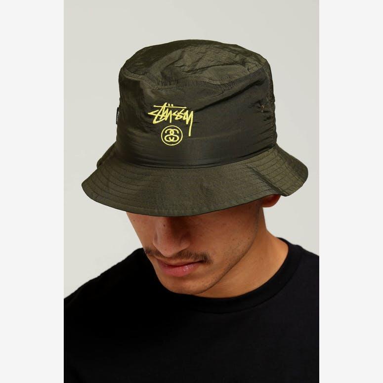 Stussy Crushable Stock Bucket Hat Green – Culture Kings fddd0492fd6f