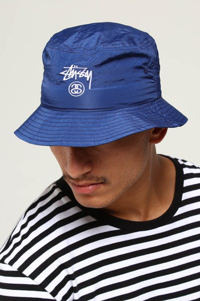 Stussy Crushable Stock Bucket Hat Navy