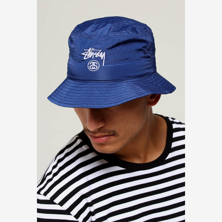 Stussy Crushable Stock Bucket Hat Navy – Culture Kings 528f802e45a