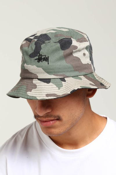 Stussy Graffiti Bucket Hat Camo