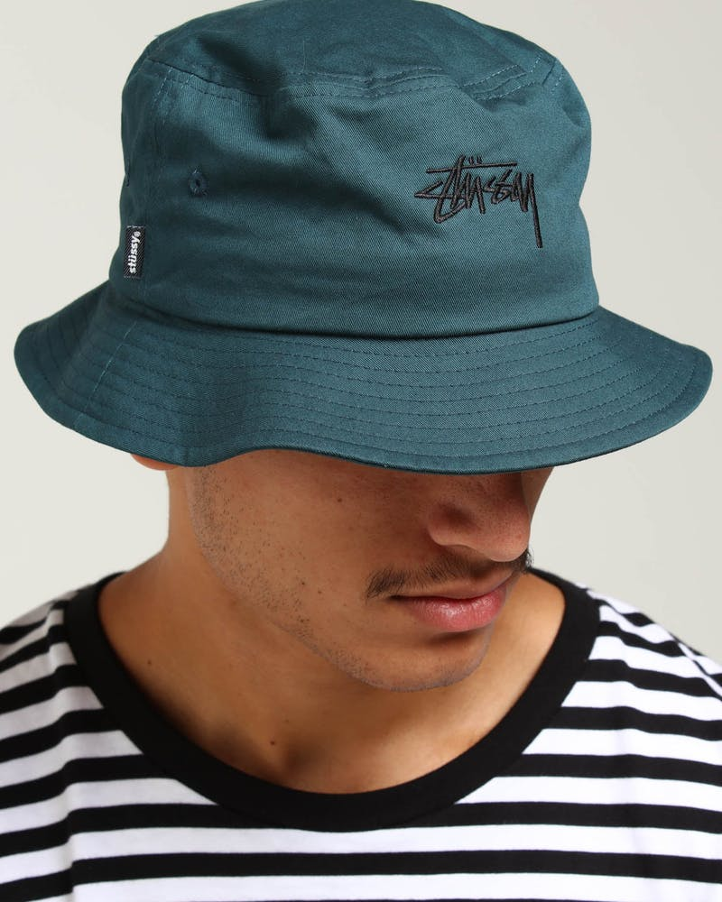 Stussy Stock Bucket Hat Teal