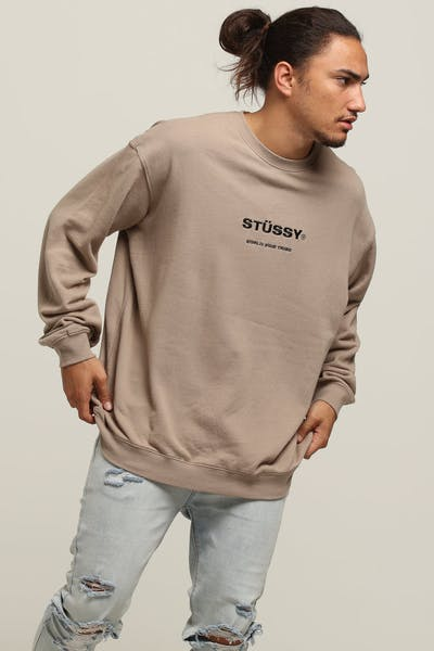 Stussy World Wide Crew Atmosphere Grey