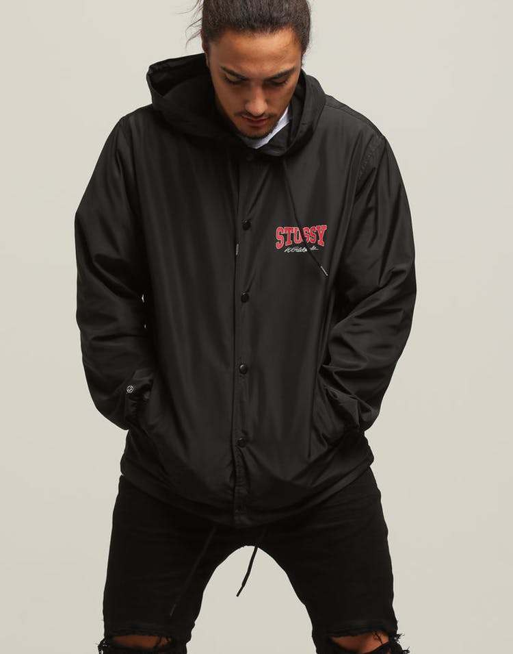 e9475efea Stussy Campus Hooded Coaches Jacket Black – Culture Kings